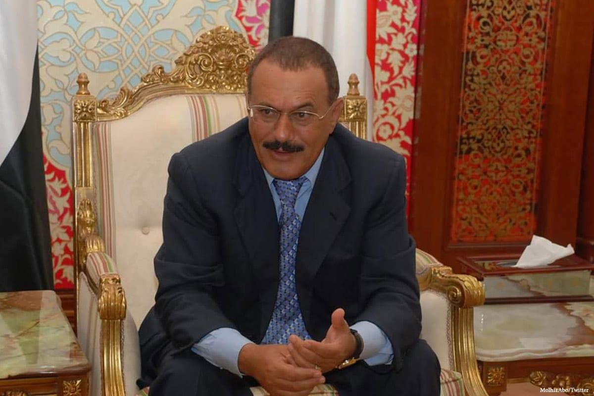 Image of ousted Yemeni President Ali Abdullah Saleh [MolhiaAbo/Twitter]