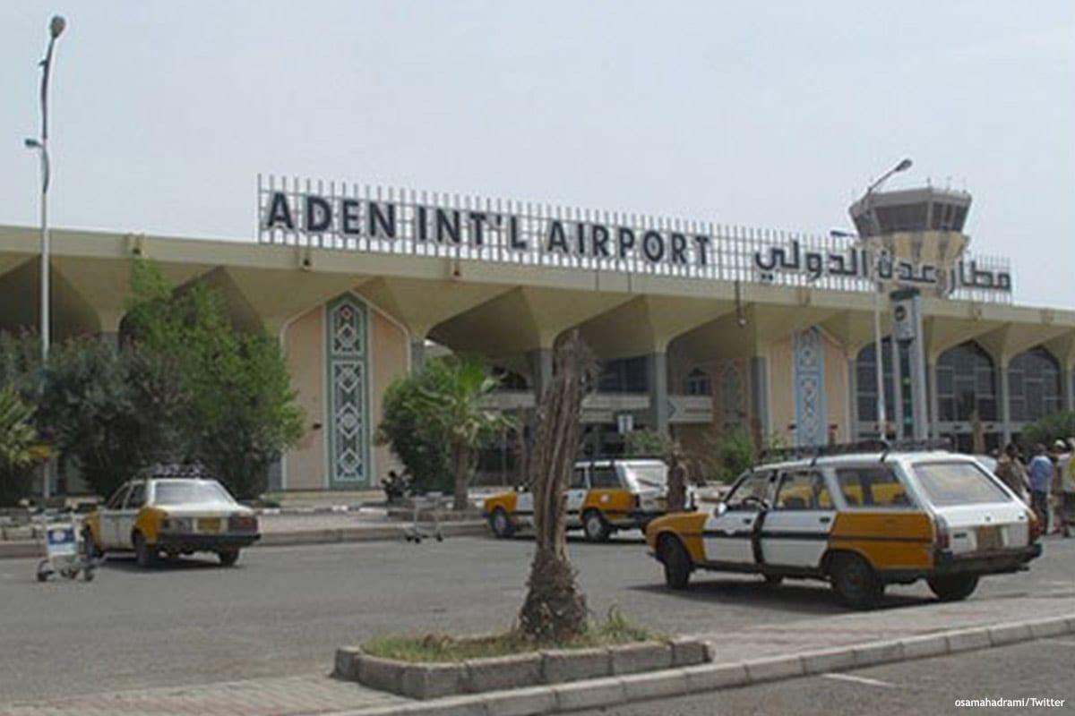 Zdjęcie międzynarodowego lotniska Aden w południowym Jemenie [osamahadrami / Twitter]