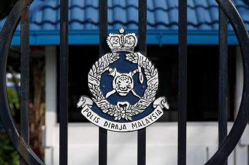 Logo of the Malyasian police, at the Police Training Centre [Photo by CEphoto, Uwe Aranas]