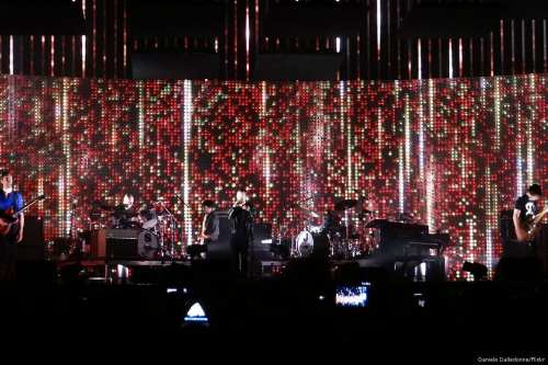 Image of the rock band Radiohead performing live on 26 September 2012 [Daniele Dalledonne/Flickr]