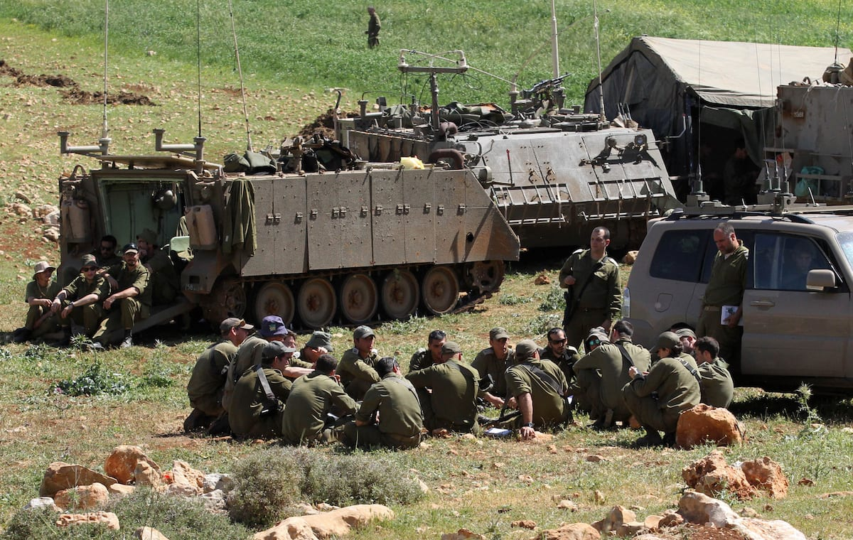 Israeli soldiers are seen as they conduct a military drill in West Bank on April 4, 2017 [Nedal Eshtayah/Anadolu Agency]