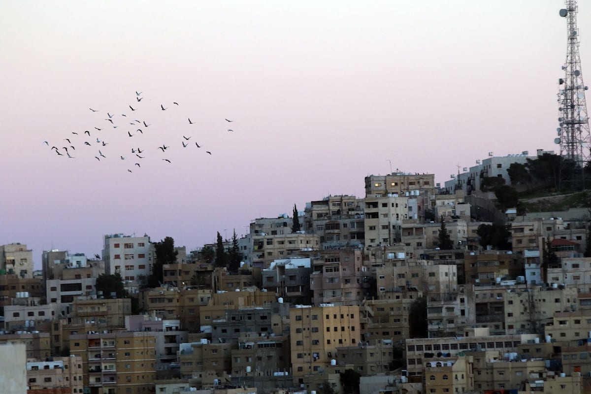 Skyline of a part of the Jordanian capital, Amman [Salah Malkawi / Anadolu Agency]