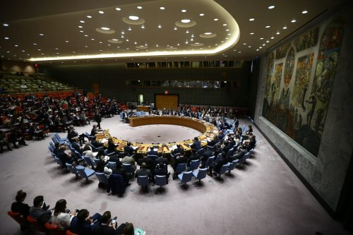 Members of the United Nations Security Council on April 5, 2017 in New York, US ( Volkan Furuncu - Anadolu Agency )