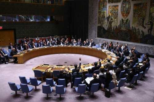 Members of the United Nations (UN) Security Council on April 12, 2017 [Volkan Furuncu/Anadolu Agency]