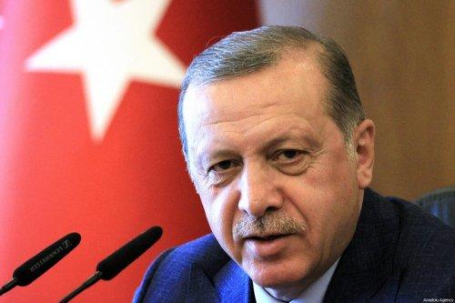 Turkish President Recep Tayyip Erdogan speaks during a press conference in Istanbul, Turkey on 30 April, 2017 [Ahmet Dumanlı/Anadolu Agency]