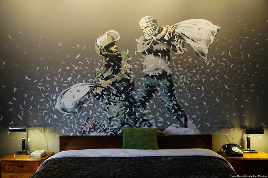 Banksy's Walled Off Hotel in Bethlehem opened in March 2017 [Naima Morelli/Middle East Monitor]