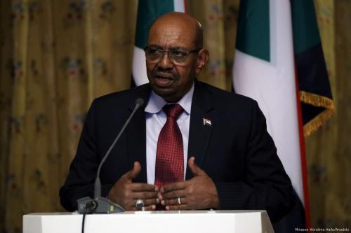Image of Sudanese President Omar Al-Bashir during a press conference on April 4, 2017 [Minasse Wondimu Hailu/Anadolu Agency]
