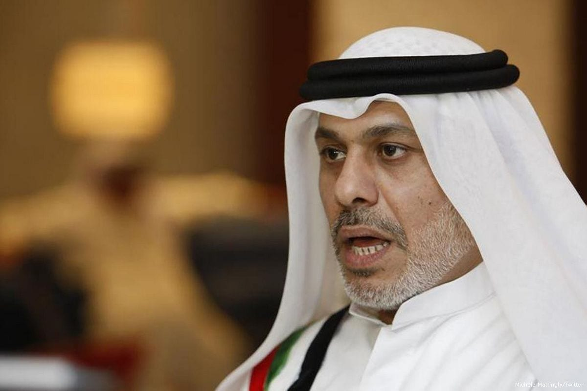 Image of Prominent Emirati human rights activist, Nasser Bin Ghaith [Michele Mattingly/Twitter]
