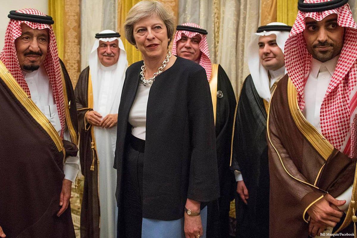 Image of UK Prime Minister Theresa May and King Salman bin Abdulaziz al Saud of Saudi Arabia (left) [Bill Marquis/Facebook]