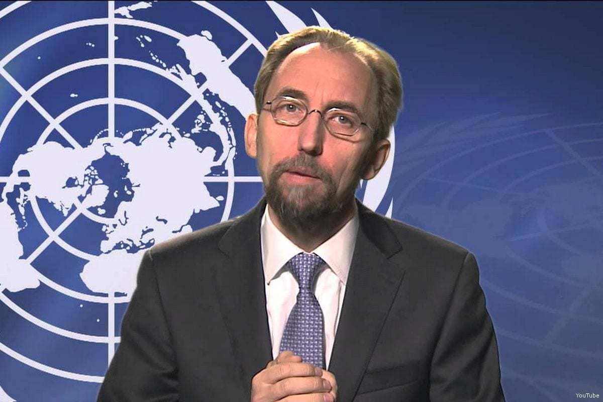 Image of UN High Commissioner for Human Rights Zeid Ra'ad Al-Hussein [YouTube]
