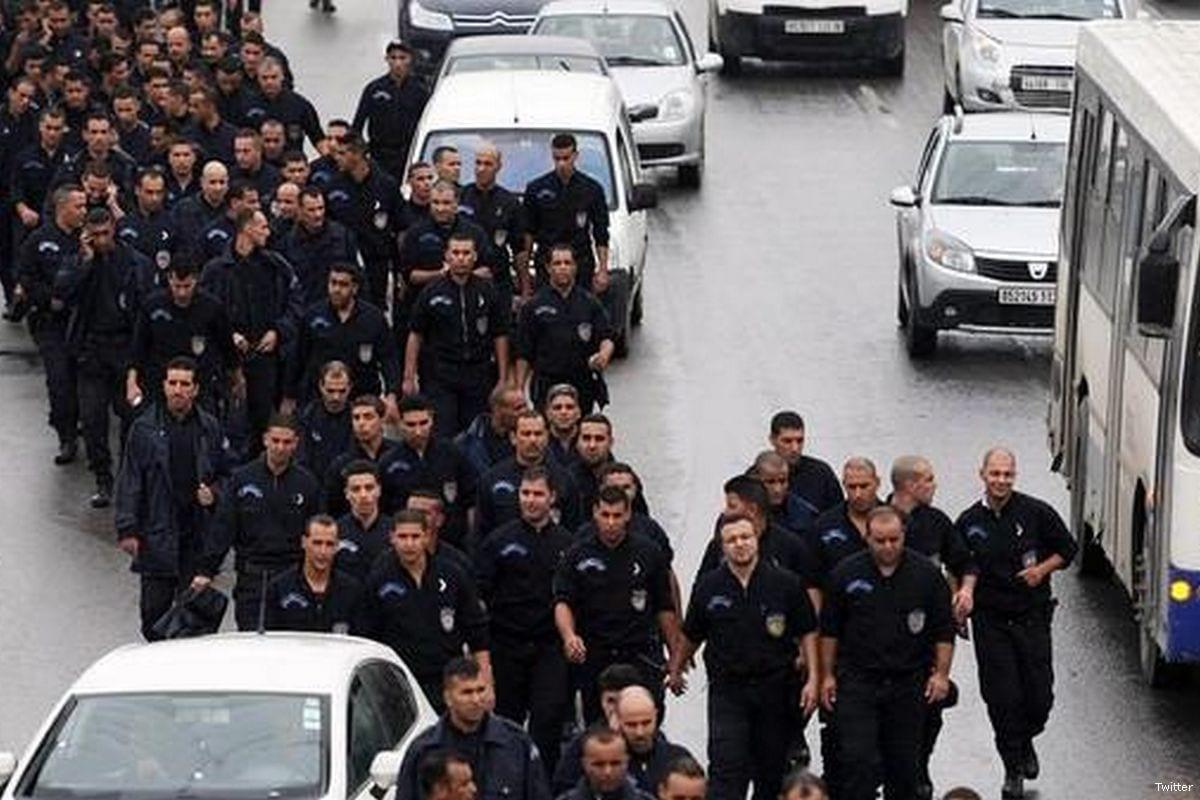 Image of Algerian police [Twitter]