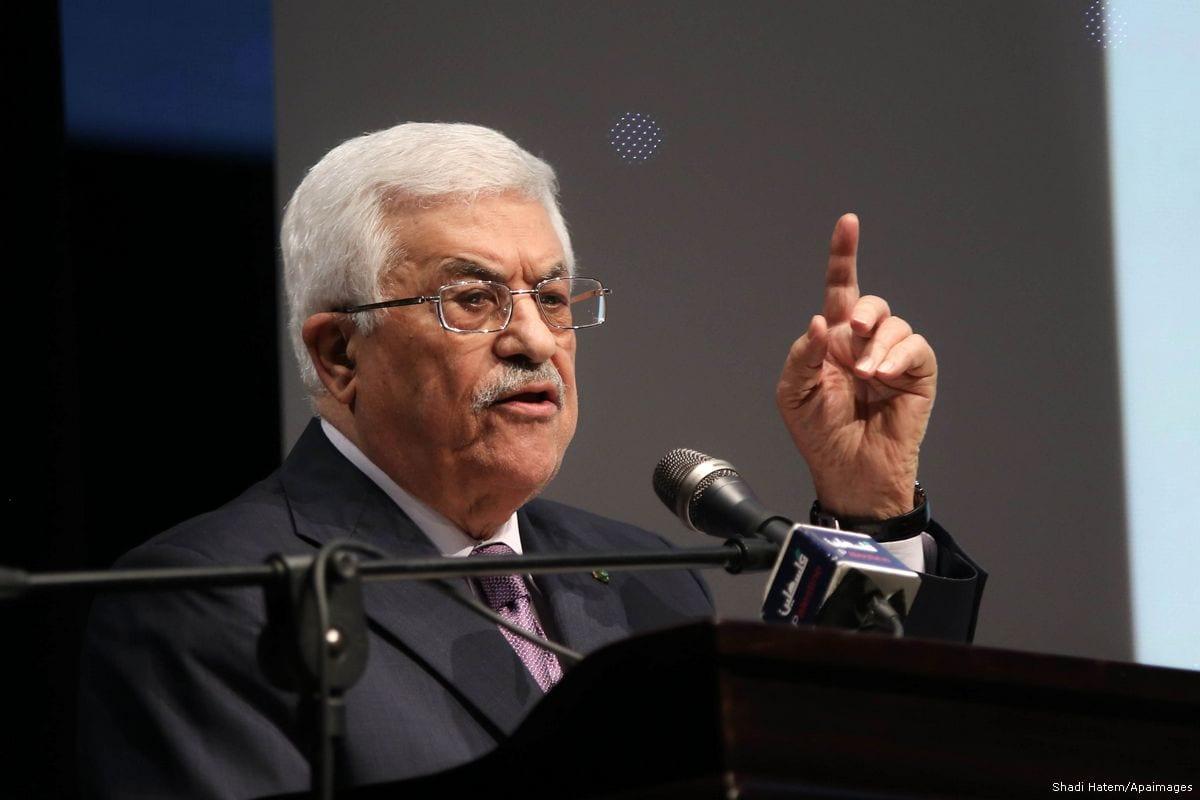 Image of Palestinian President Mahmoud Abbas in Ramallah, West Bank on 4 January 2016 [Shadi Hatem/Apaimages]