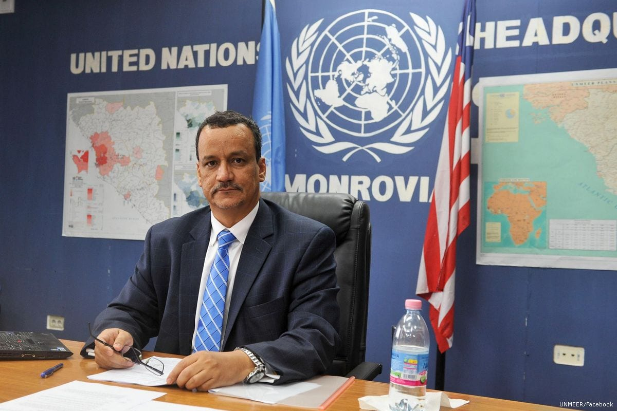Image of the UN envoy to Yemen, Ismail Ould Cheikh on 28 April 2015 [UNMEER/Facebook]