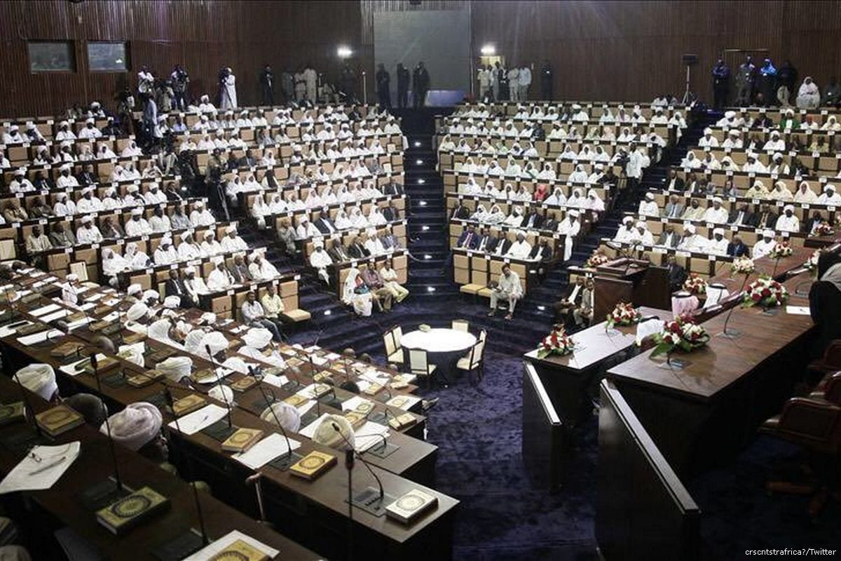 Image of Sudanese parliament in session [crscntstrafrica/Twitter]