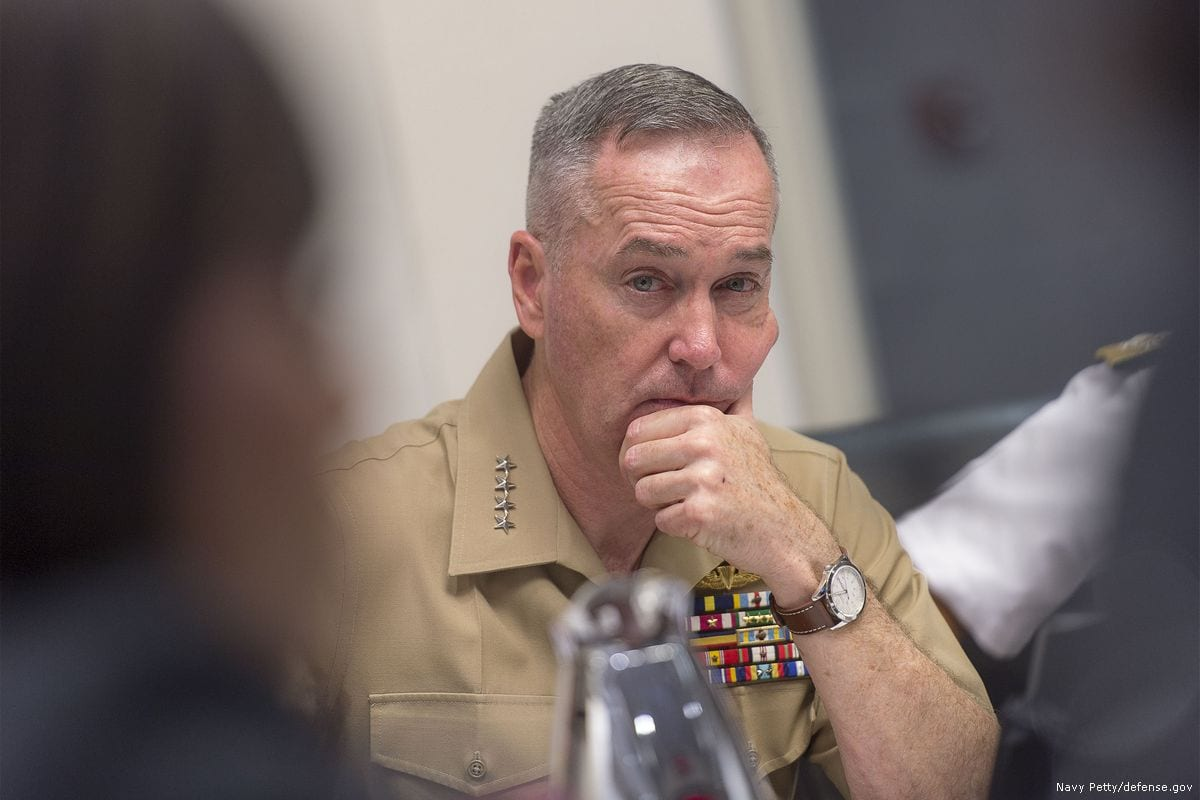 Image of US Chairman of the Joint Chiefs of Staff of the US Army General, Joseph Dunford on 10 February 2017 [Navy Petty Officer/defense.gov]