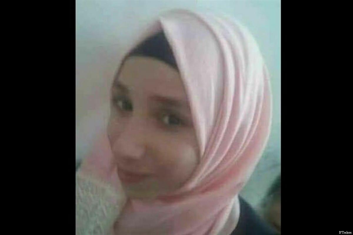Fatima Hjeiji, 16-year-old Palestinian, shot dead by the IOF on 10 May, 2017 [B'Tselem]