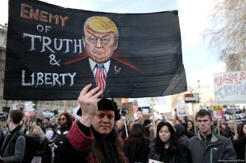 Protesters march against the 'Muslim Ban' in New York, US on 4 February 2017 [Alisdare Hickson/Flickr]