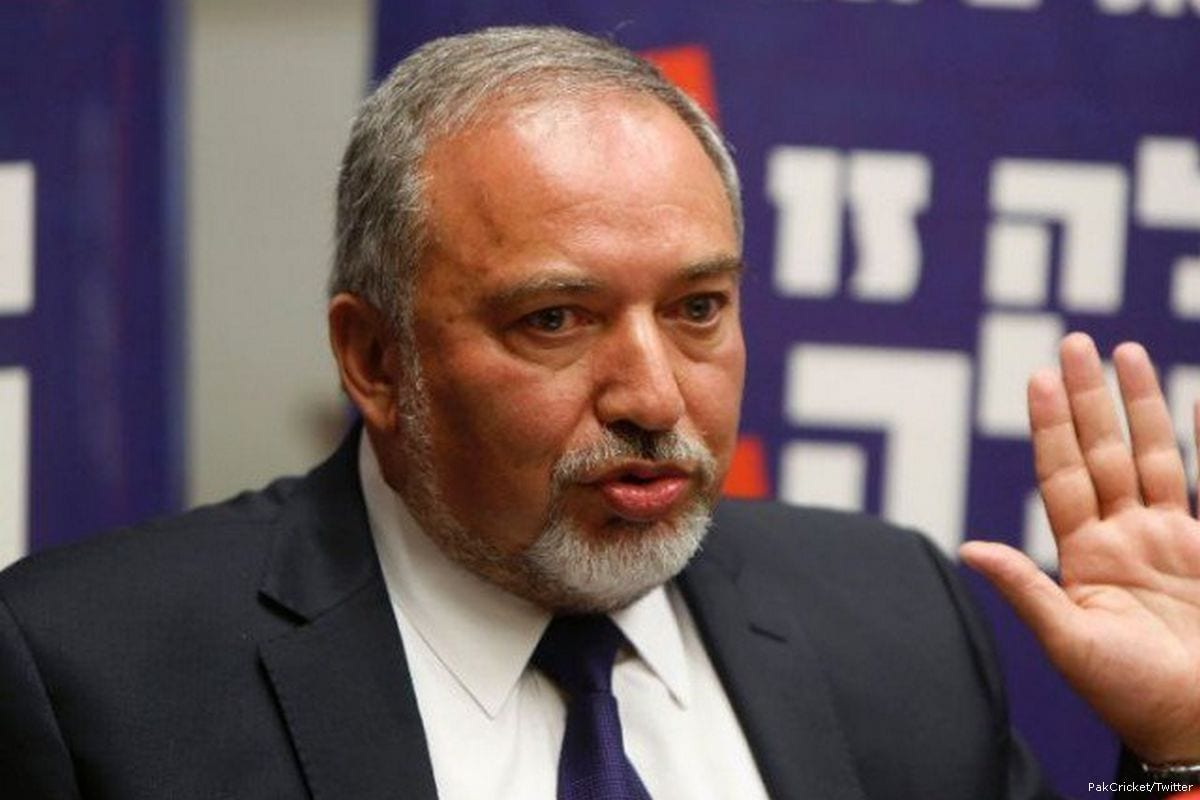 Image of Israeli Defence Minster Avigdor Lieberman on 12 April 2017 [PakCricket/Twitter]