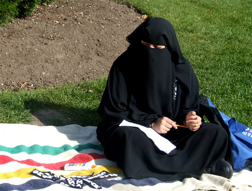 Image of a Muslim wearing observing the niqab [Khadr family/Wikipedia]