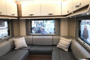 Image of a caravan belonging to 17 April Youth Collective as they protest outside House of Parliament in London, UK [17 April Youth Collective]