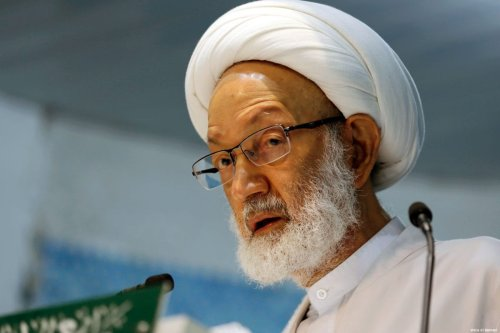 Ayatollah Isa Qassim, the spiritual leader of Shia Muslims in Bahrain