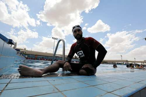 Egyptian amputee Omar Hegazy became the first to swim from Egypt to Jordan in May 2017