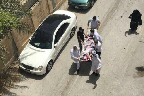 One man was killed after Bahraini security officials stormed the Shia village of Diraz on 23 May 2017. [Jehan Matooq/Twitter]
