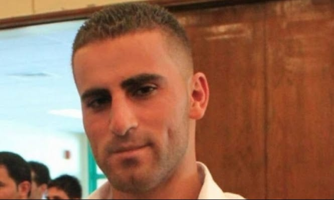 Image of Palestinian worker Antar Al-Aqraa, who was shot by a volunteer for the Israeli border police after he crossed into Israel without a permit in December 2013