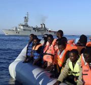 Irish navy rescues 712 people near Libya