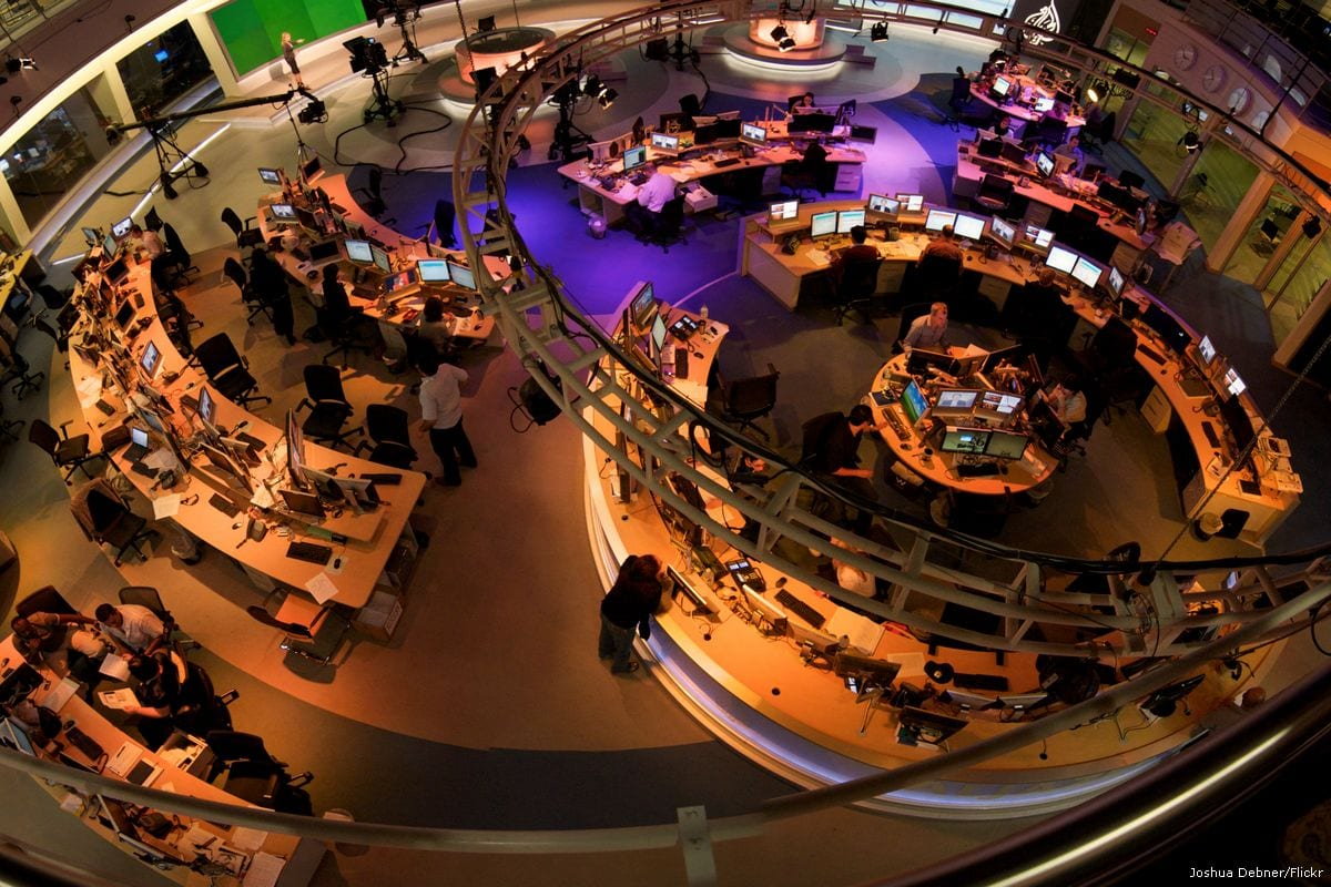 Al Jazeera newsroom [Joshua Debner/Flickr]