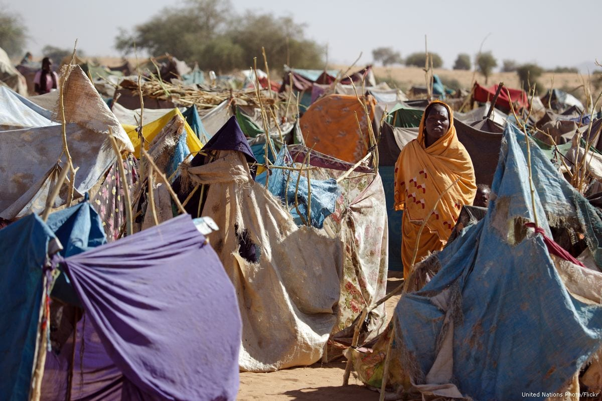Image of Sudanese Darfurians at a refugee camp [United Nations Photo/Flickr]