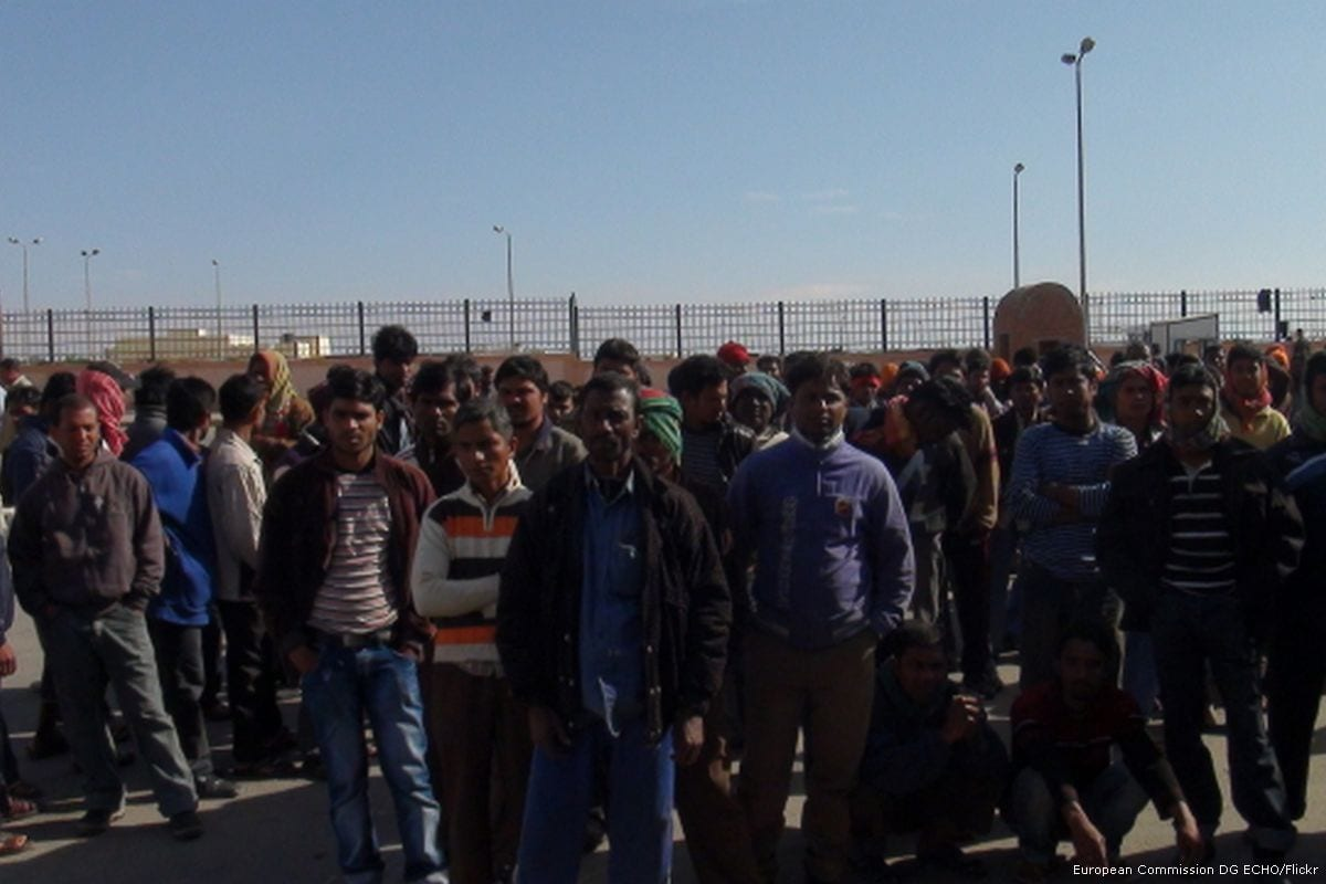 Image of migrant workers [European Commission DG ECHO/Flickr]
