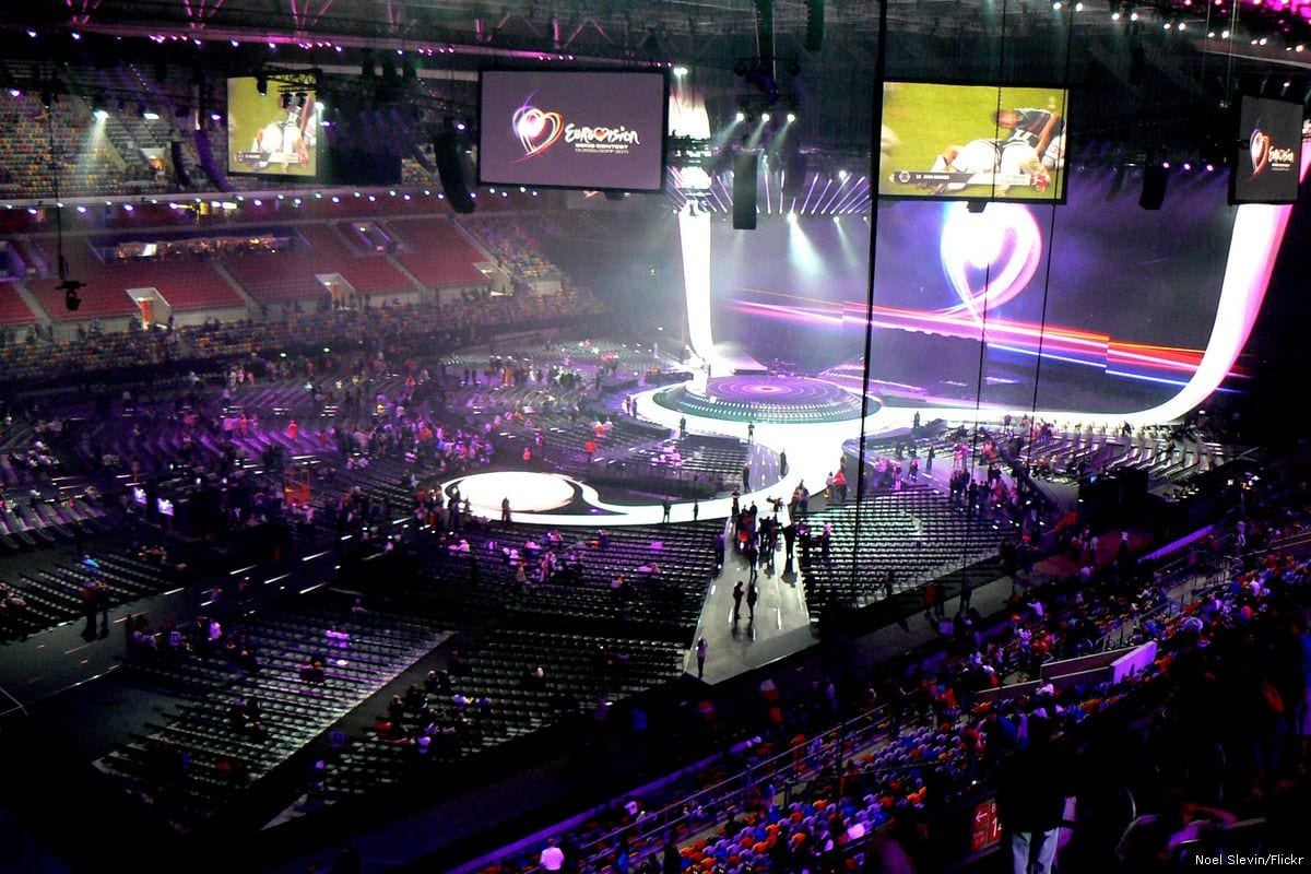 People take their seats as the Eurovision song contest begins in Duesseldorf, Germany on 14 May 2011 [Noel Slevin/Flickr]