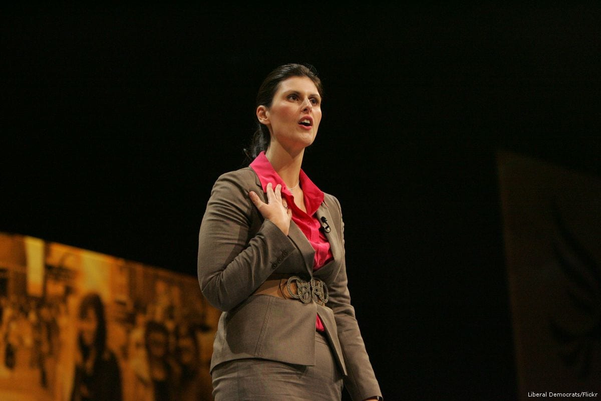 Image of British MP Layla Moran delivering a speech in London, UK on 22 September 2012 [Liberal Democrats/Flickr]