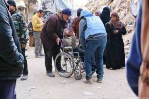 Yarmouk refugee camp in Syria in 2014 [Laila Ben Allal/Middle East Monitor]