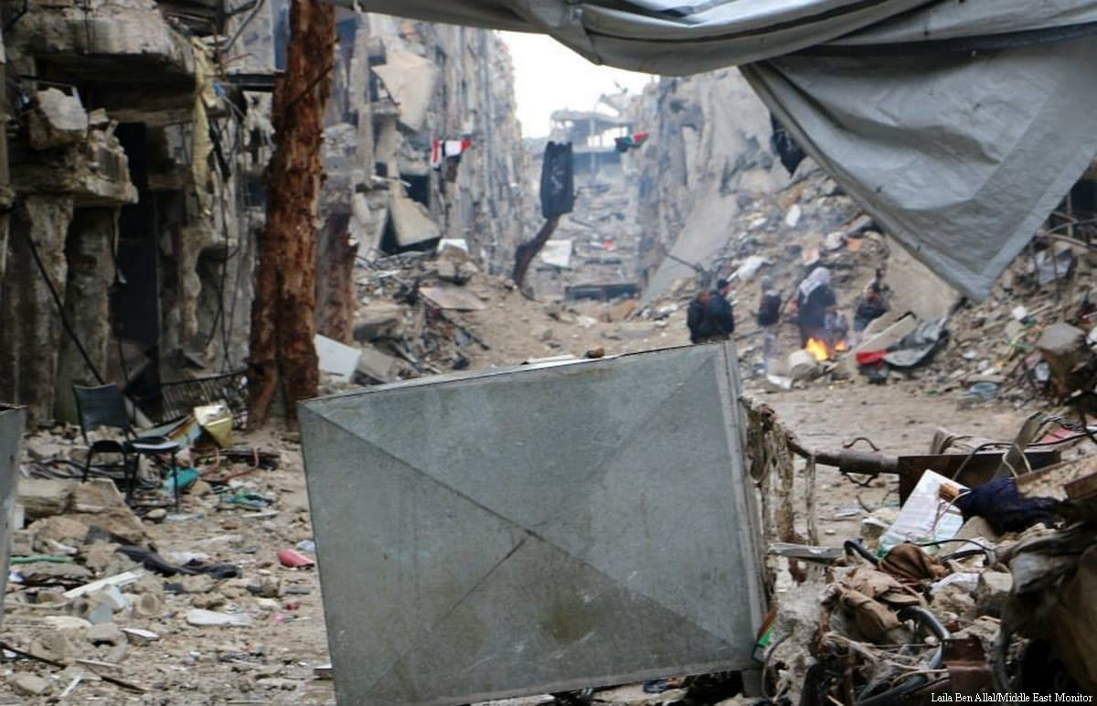 The largest Palestinian refugee camp, Yarmouki in Syria [Laila Ben Allal/Middle East Moni