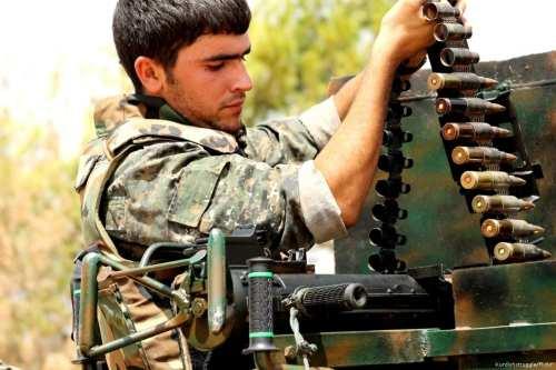 Image of a YPG fighter in Hasaka, Syria on 21 September 2014 [Kurdishstruggle/Flickr]