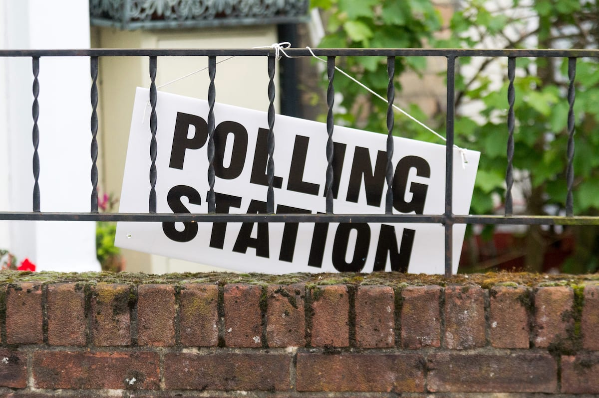 Image of a polling station in London, UK on 8 June 2017 [Ray Tang/Anadolu Agency]