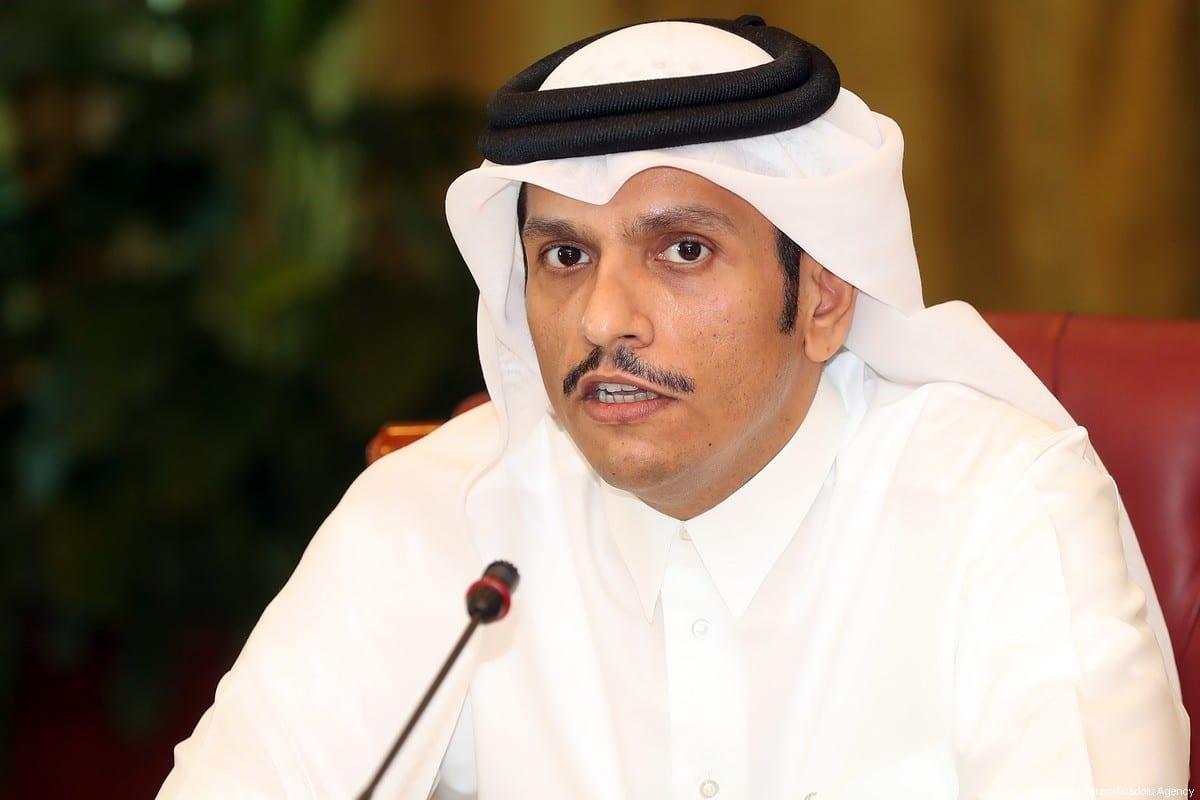 Qatari Foreign Minister Sheikh Mohammed bin Abdulrahman Bin Jassim Al-Thani on 8 June 2017. [Mohamed Farag/Anadolu Agency]