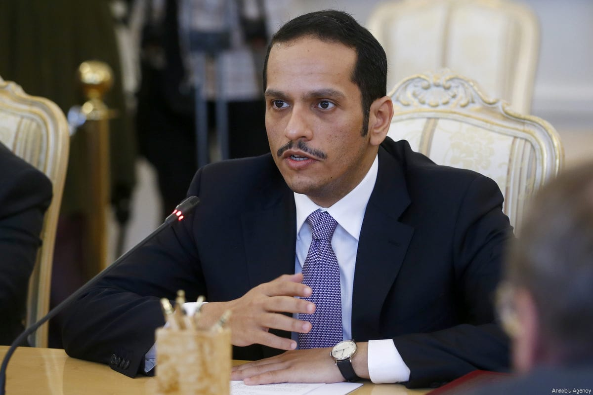 Foreign Minister of Qatar Mohammed bin Abdulrahman bin Jassim Al-Thani in Moscow, Russia on 10 June 2017 [Sefa Karacan/Anadolu Agency]