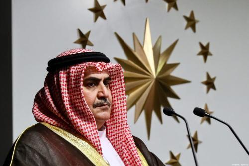Bahrain Foreign Minister Khalid bin Ahmed Al Khalifa on 10 June 10 2017 [Ahmet Gumus/Anadolu Agency]