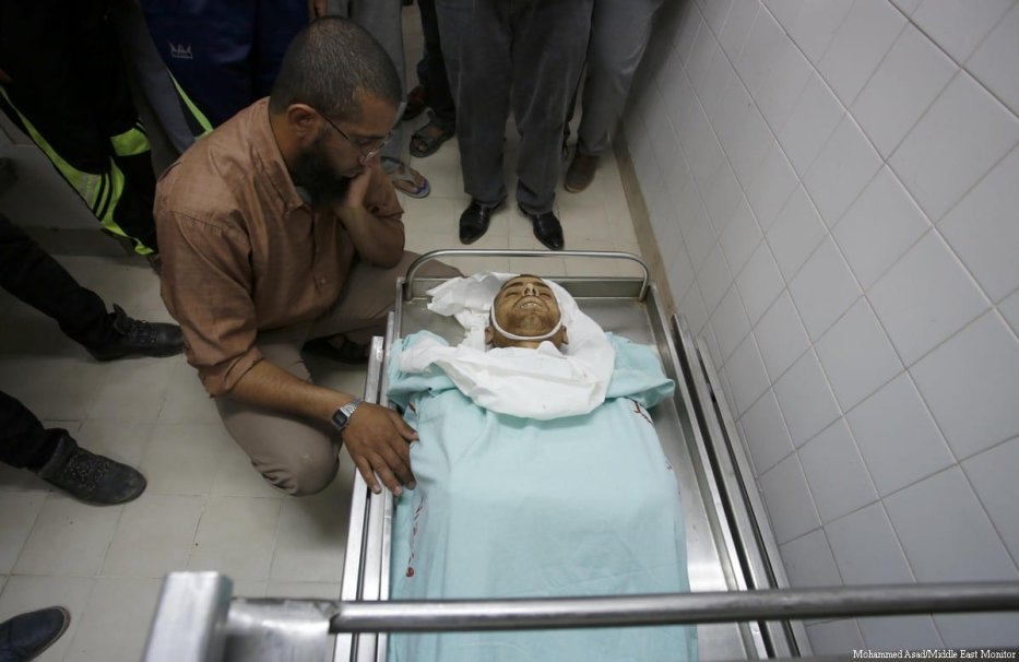 25-year-old Fadi Al-Najjar was killed by Israeli forces in the east of Khan Yunis, Gaza Strip, on 6 June, 2017 [Mohammed Asad/Middle East Monitor]