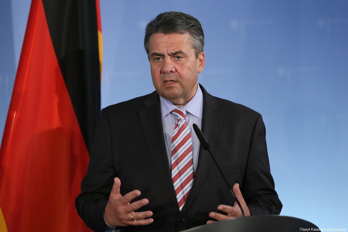Sigmar Gabriel, German Foreign Minister during a press conference in Berlin on 7 June, 2017 [Cüneyt Karadağ/Anadolu Agency]