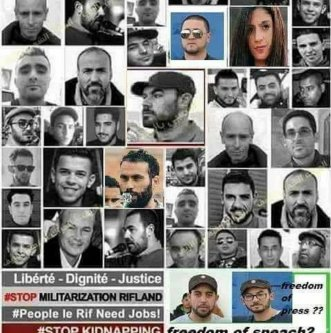 Poster to protest the repression against Rif in Morocco [Twitter]