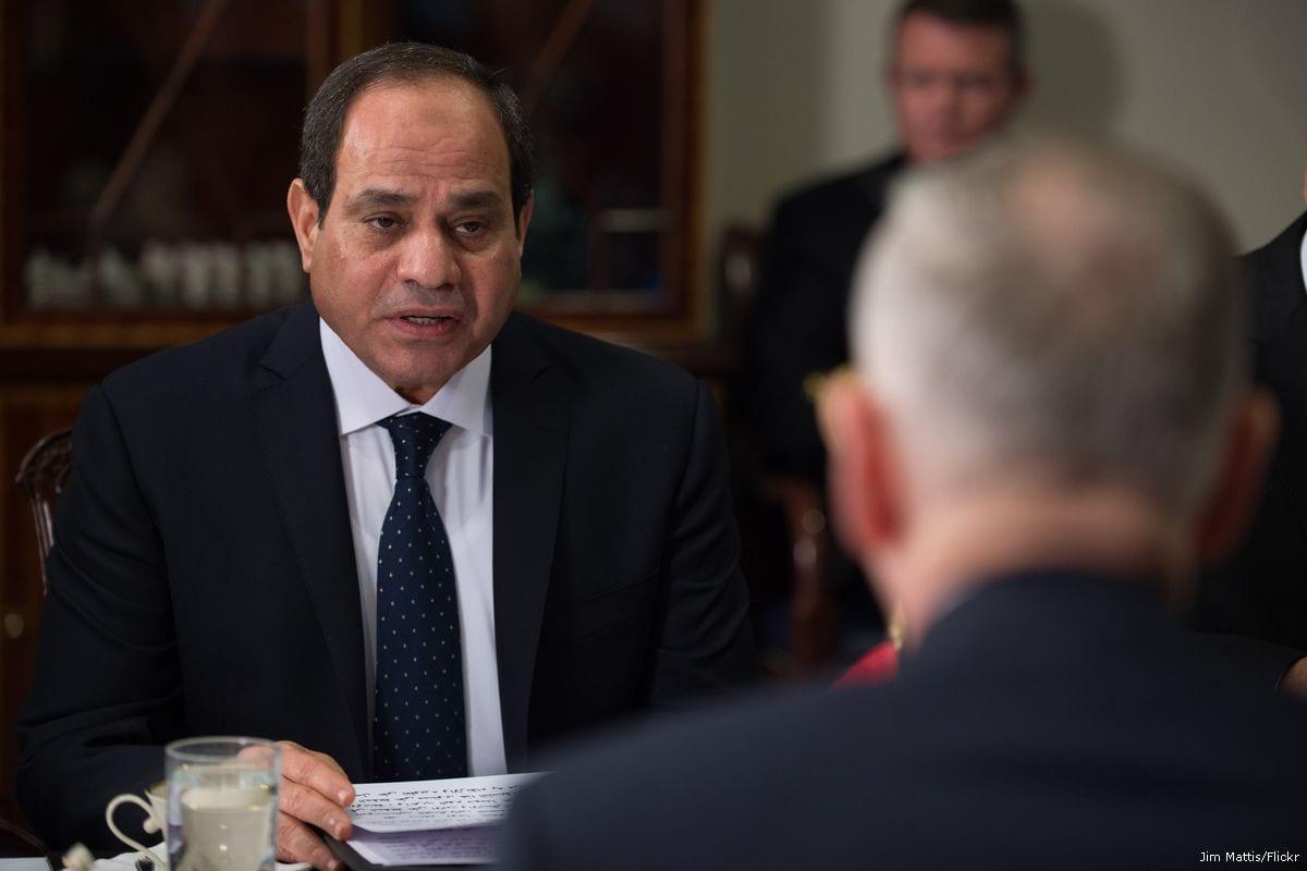 Image of Egyptian President Abdel Fattah Al-Sisi on 5 April 2017 [Jim Mattis/Flickr]