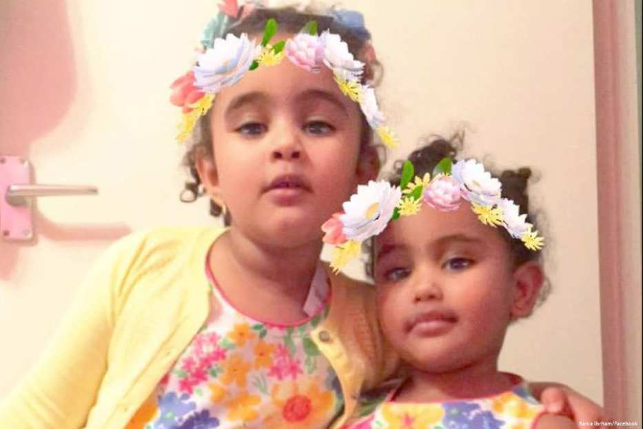 Image of Fathia and Hania, the daughters of Rania Ibrahim