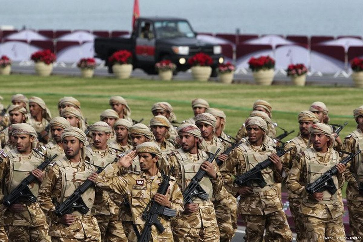 Image of Qatari forces [Qatar_Tribune/Twitter]