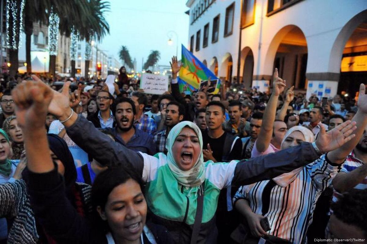 Image of a protest in Morocco on 31 May 2017 [Diplomatic Observer/Flickr]