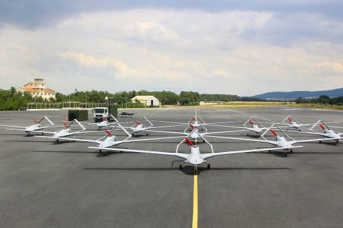 A fleet of Turkey's locally-made Bayraktar TB2 UAVs (drones) [Bayhaluk / Wikipedia]