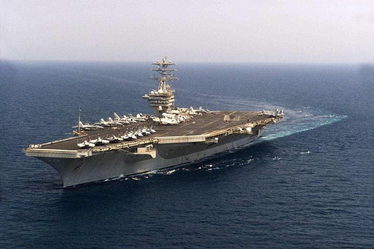 US Navy's carrier, the USS Nimitz seen in the Arabian Gulf on June 29, 2003 during 'Operation Iraqi Freedom' [Kristi J. Earl / US Navy]